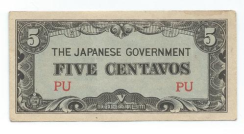 Philippines - 5 Centavos - 1942