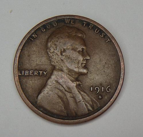 1916-S Wheat Cent