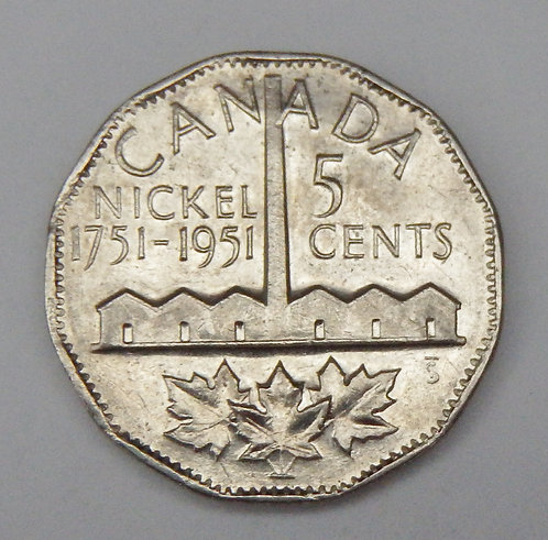 Canada - 5 Cents - 1951