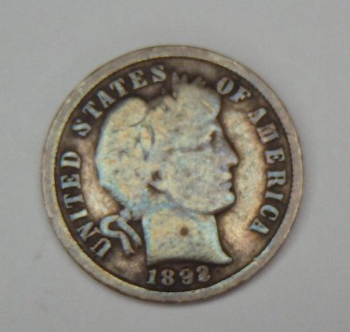 1892 Barber Dime