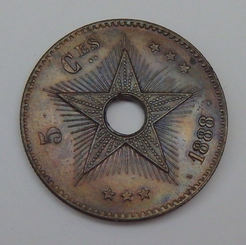 Congo Free State - 5 Centimes - 1888/7