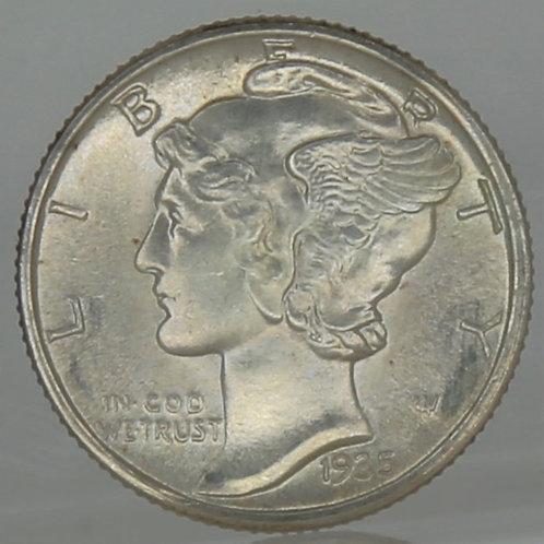 1935 Mercury Dime FSB
