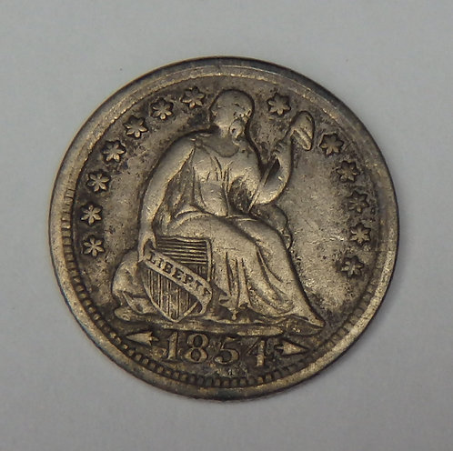 1854 Seated Liberty Half Dime