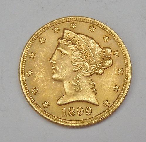 1899 $5 Liberty Gold