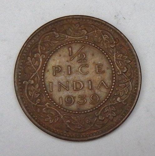 India - 1/2 Pice - 1939(b)