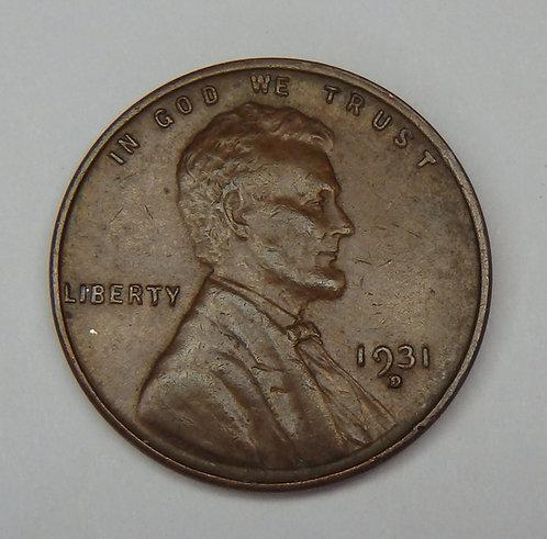 1931-D Wheat Cent