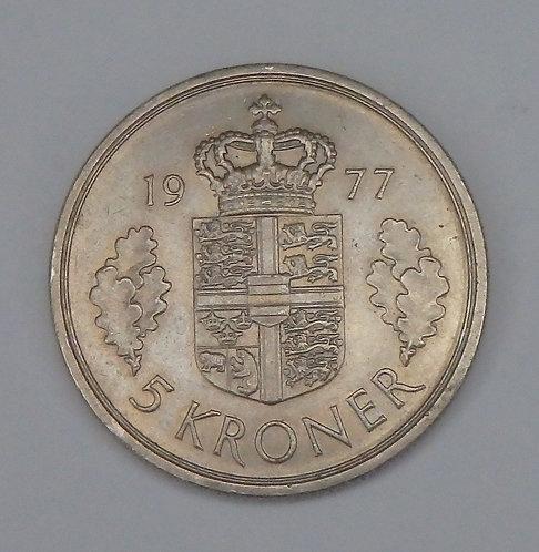 Denmark - 5 Kroner - 1977