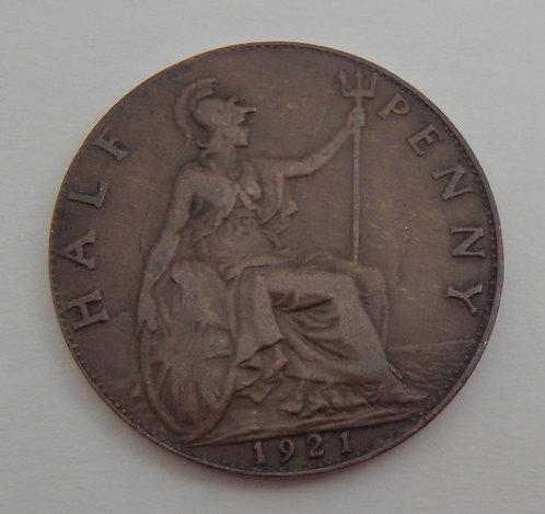 Great Britain - Half Penny - 1921