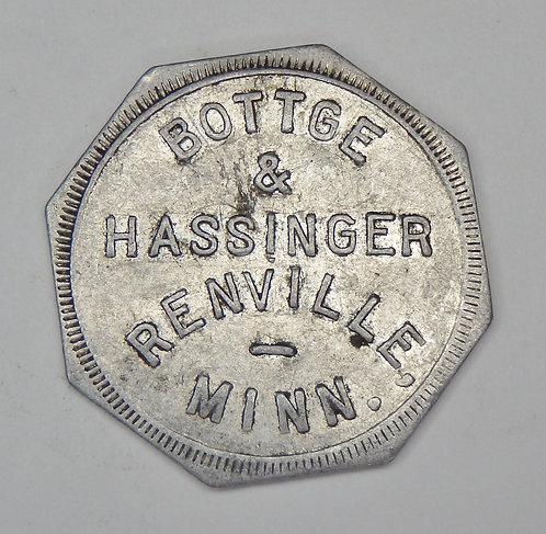 Minnesota, Renville - Bottge & Hassinger Token
