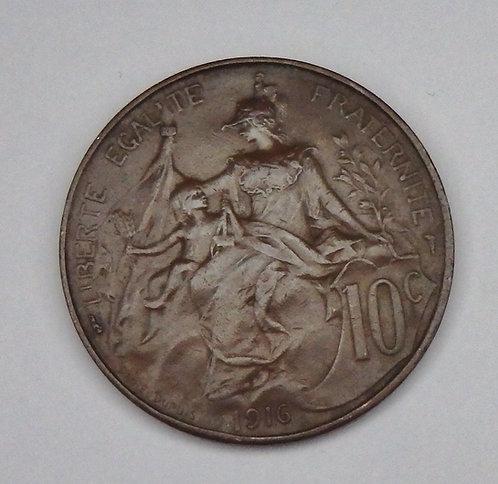 France - 10 Centimes - 1916