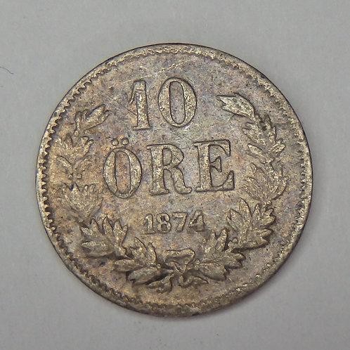 Sweden - 10 Ore - 1874