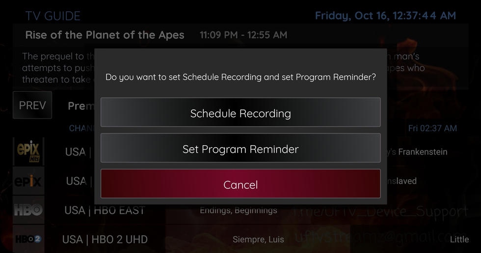Record and Reminder Feature