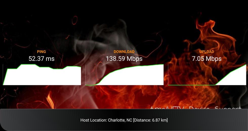 Built-in Internet Speed Test