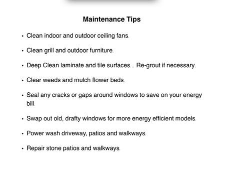 June Home Maintenance Tips