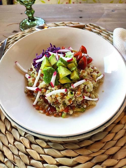 Amanida de quinoa i llenties