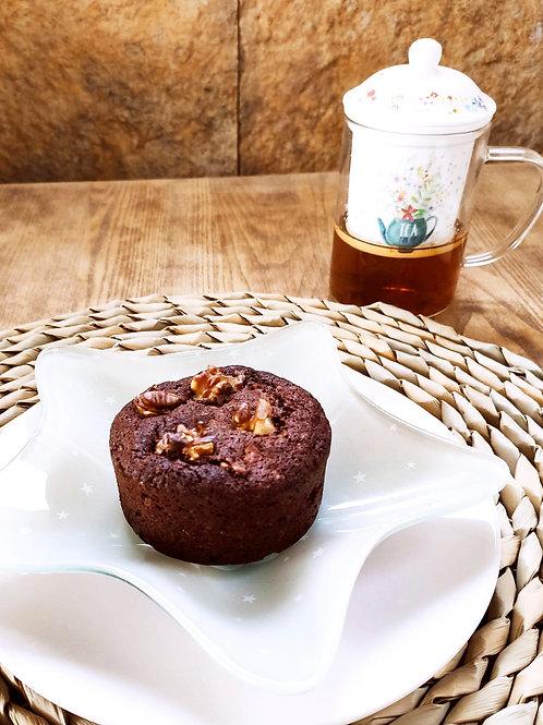 Brownie de xocolata i nous. 1 ració.
