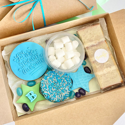 Kids Treat Box - Blue/Green