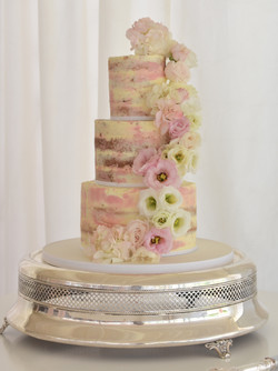 blush semi-naked cake