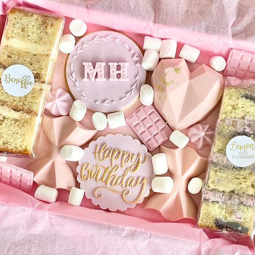 Happy Birthday Treat Box - Pink/Lilac