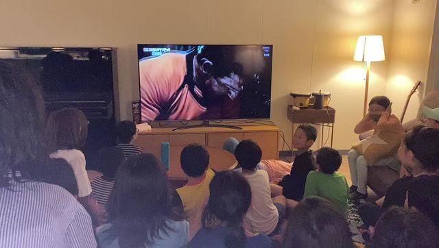 Pupils at North Peak watch the Olympics