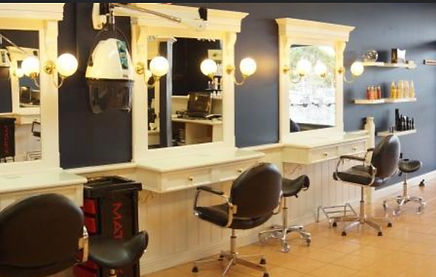 The work stations at Adore Hair Care Salon
