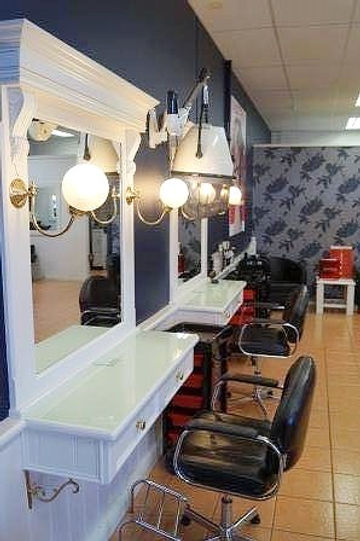 Stations in the salon