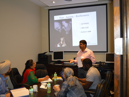 Workshop on Management of Acute Cases with Homeopathy bu Anil Kumar Sharma 12 July 2015