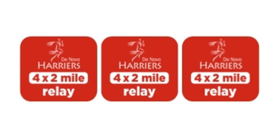 De Novo Harriers 4 x 2 Mile Relay & Food Drive