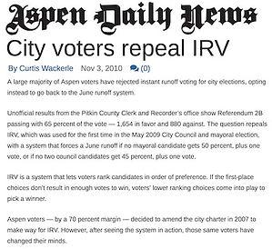 City voters repeal IRV - Aspen.jpg