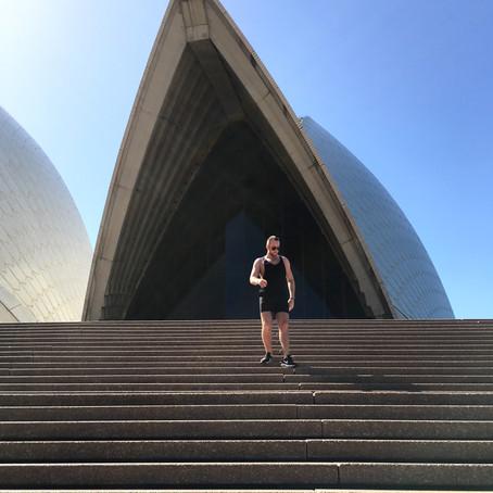 TOUCH DOWN IN AUSTRALIA.