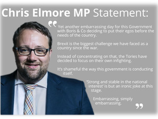 Chris Elmore's Statement on the Brexit Calamity