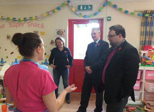 MP and AM Visit New Nursery