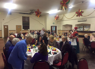 MP Joins Pensioners for Christmas Lunch