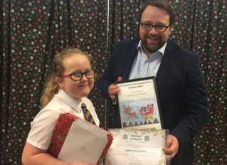 Hollie's picture chosen for MPs Christmas card