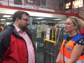 Chris Elmore gets First Class experience as he turns postie for the day