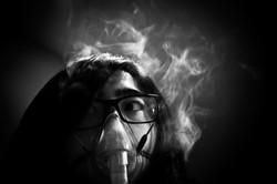 Self-Portrait with Nebulizer