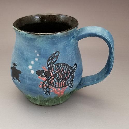 Turtle Silhouette Mug