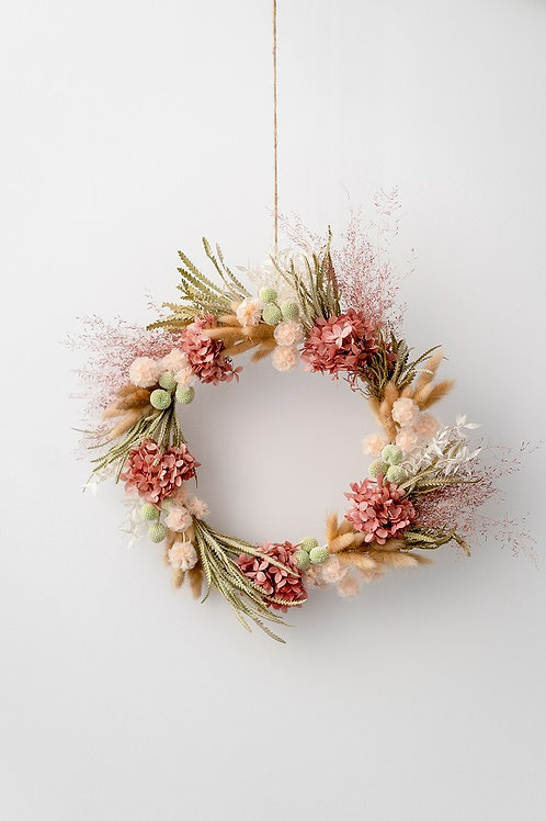 """PASTEL""  PRESERVED WREATH"