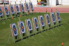 Les cibles de tir à l'arc