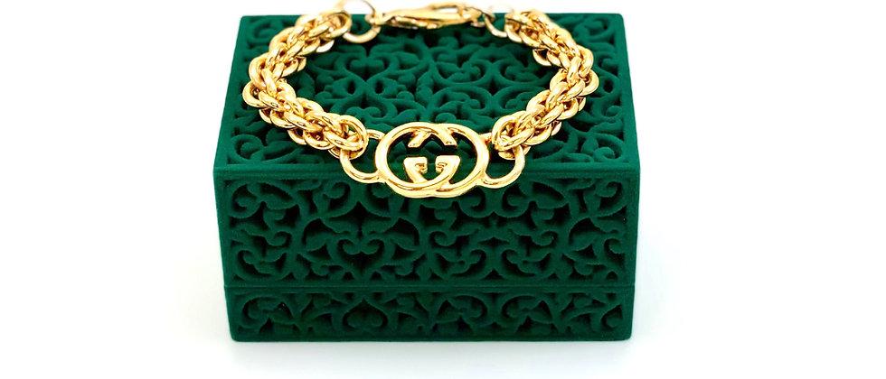 Repurposed Vintage Gucci Gold GG Link Bracelet