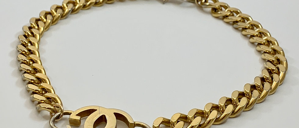 Vintage Repurposed Gucci Gold GG Chunky Choker Necklace