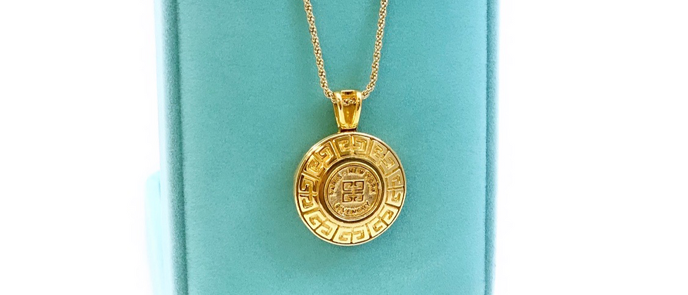 Vintage Repurposed 1980's Gold Givenchy Pendant Necklace