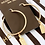 Thumbnail: Authentic Henri Bendel NY Luggage Tag Charm Gold Hoop Earrings
