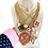 Thumbnail: Repurposed Louis Vuitton XXL Gold & Hot Pink Lucite Pendant Necklace