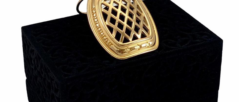 Vintage Burberry Gold Filigree Scarf Clip