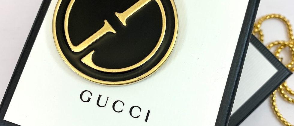 Repurposed Vintage 1991 HUGE Gucci Enamel Pendant Necklace