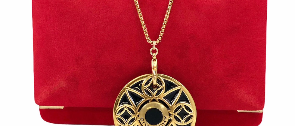 Vintage Repurposed 1980's HUGE Givenchy Gold Medallion Necklace