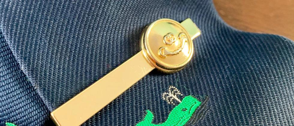 Vintage Gucci GG Horsebit Button Tie Bar Clip