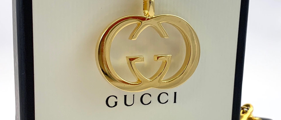 Repurposed Vintage Gucci Large Gold GG Choker Necklace