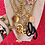 Thumbnail: Repurposed Vintage 1975 RARE Gucci XL Gold GG & Bee Necklace